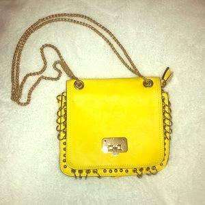 Handbags - Yellow crossbody/ or over the shoulder bag